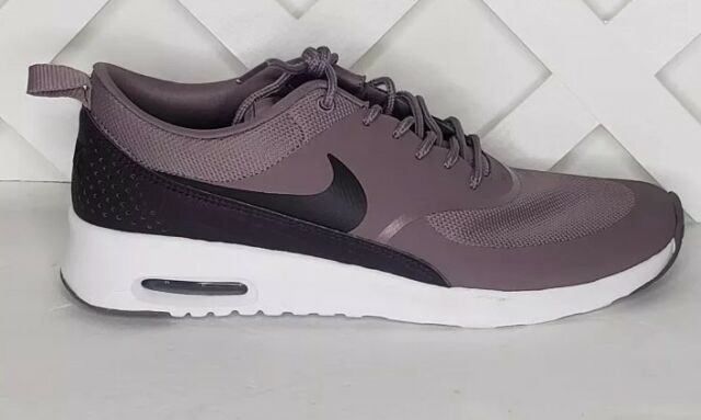 Nike Air Max Thea Womens Taupe Grey Port Wine Running Shoes Size 11 599409 203