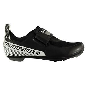 Muddyfox-Mens-TRI100-Cycling-Shoes-Tri-Breathable-Padded-Ankle-Collar-Strap-Hook