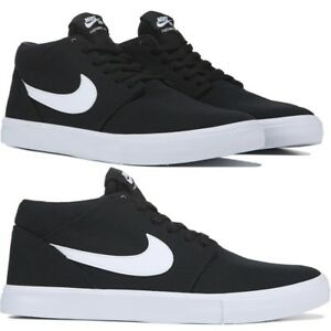 low cost 253f4 fbd13 Image is loading Nike-SB-Solarsoft-Portmore-II-Mid-Top-Skate-