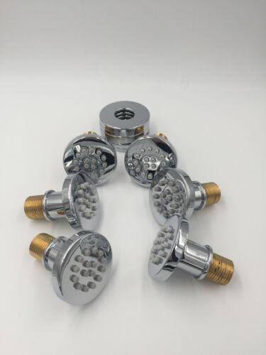 Wall Mounted 6PCS Body Massage Jets Shower Sprayer Rain Shower Faucet Head