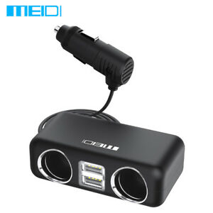 MEIDI-Dual-USB-Phone-Charger-2-Way-Car-Cigarette-Lighter-Socket-Splitter-Adapter