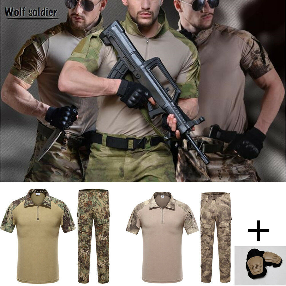 Men's Airsoft Tactical Gen3 G3 Combat Frog  Suit Short Sleeve Shirt Pants Uniform  high quality & fast shipping
