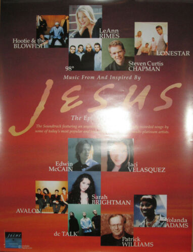 JESUS The Epic MiniSeries promotional poster, 2000, 18x24, EX, Christian