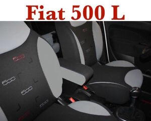 Bracciolo-grigio-e-nero-XXL-Fiat-500-L-Trekking-Armlehne-Armrest-Accoudir