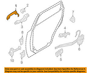 OEM Inside Door Handle Front  RH ; LH  2p  For Hyundai Veracruz  3.8L DOHC