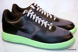 sports shoes efb08 1961e Image is loading Nike-Lunar-Force-1-Fuse-Lthr-Dark-Grey-