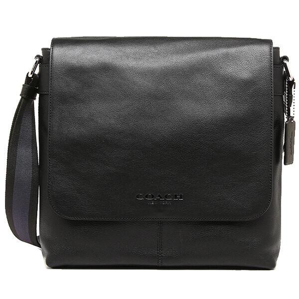 83331163da10 Coach Mens F72108 Black Leather Shoulder Messenger Crossbody Bag for sale  online