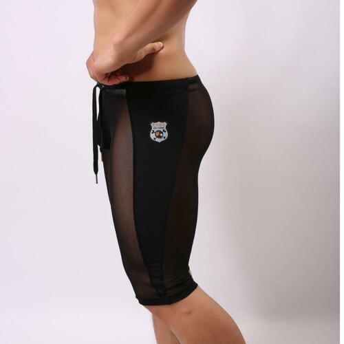 Men/'s Mesh Net breathable Sheer Boxers Drawers Underwear Underpants Boxer shorts