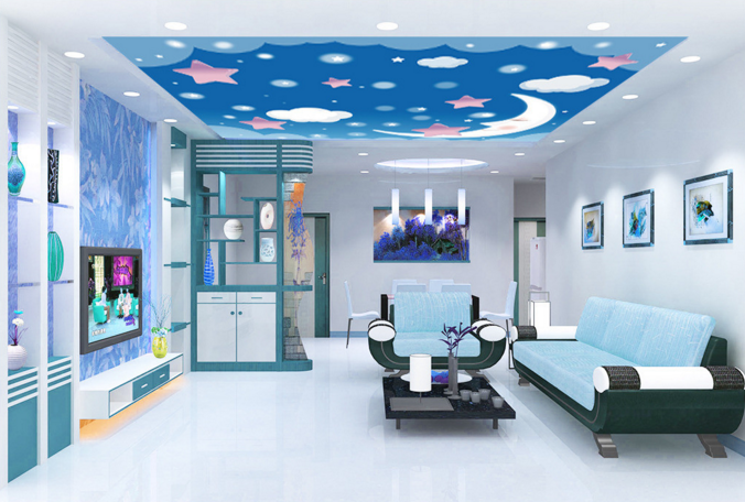 3D Smile Moon Sky 92 Ceiling WallPaper Murals Wall Print Decal Deco AJ WALLPAPER
