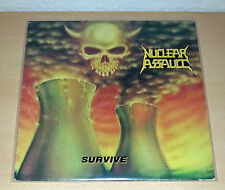 NUCLEAR ASSAULT - Survive LP OIS 1988 FLAG 21 ++ RAR # Slayer Kreator Exodus