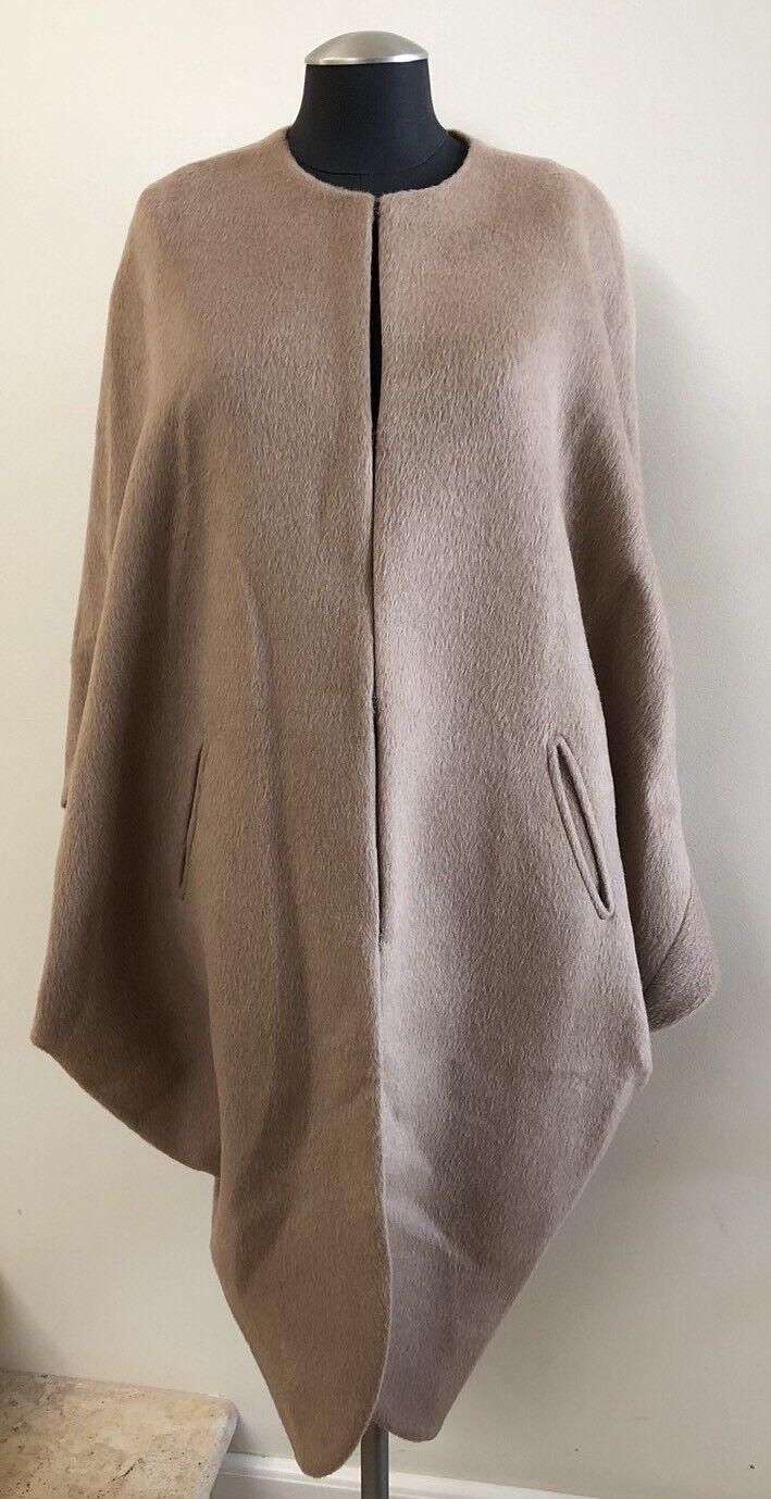 NWOT ZERO + MARIA CORNEJO Koya Alpaca and Wool Blend Cape Coat,  Size 12