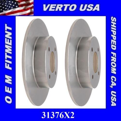 Verto USA  Set Of 2 Brake Rotors Raer  31376X2 Fit Nissan Sentra 2.5L 2003-2006