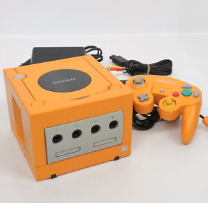 Game-Cube-ORANGE-Console-System-DOL-001-Ref-DN10932960-Nintendo-Tested-JAPAN