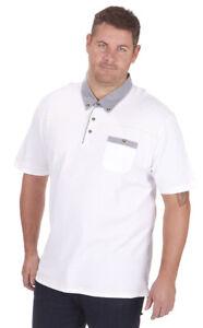 Da Uomo PLUS BIG SIZE Pique Polo Camicia T-shirt Top manica corta casual KING 3XL-5XL