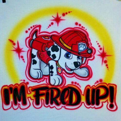 Sizes 6 months - Adult 5XL Custom Airbrushed Marshall Paw Patrol Shirt Name