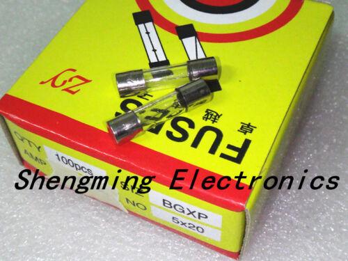100Pcs 7 A 7 Amp 250 V 5 x 20 mm Glass Tube Fuse Fast Blow