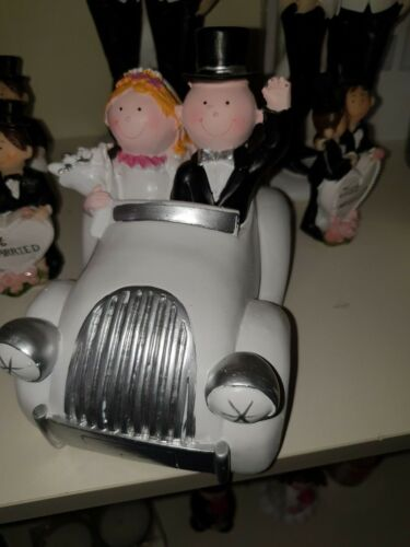 Dekofigur  Auto Hochzeitsgeschenk Hochzeitsdeko Spardose Hochzeitsreise