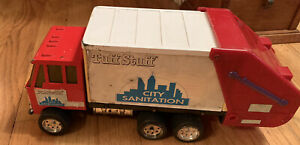 Vintage-Remco-Truck-1992-Tuff-Stuff-City-Sanitation-Pressed-Steel-and-Plastic