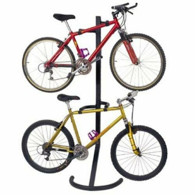 Bike Rack Stand Storage Bicycle Wall Mount 2 Hanger Organizer Parking Garage New