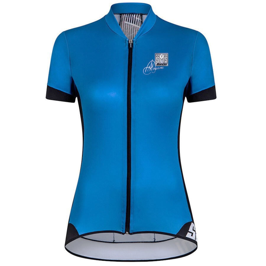 Wouomo Anna Meares  oro Aero Short Sleeve Cycling Jersey  Turquoise by Santin