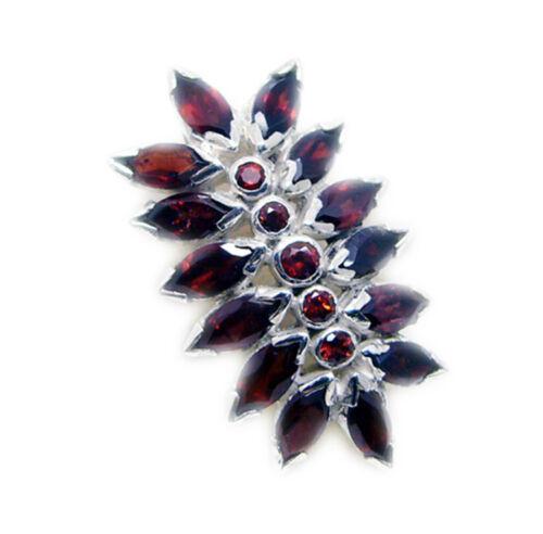 Details about  /pleasing Garnet 925 Sterling Silver Red Pendant genuine Designer US gift