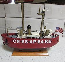 wood CHESAPEAKE boat model nautical lightship light ship wooden skiffs rowboats