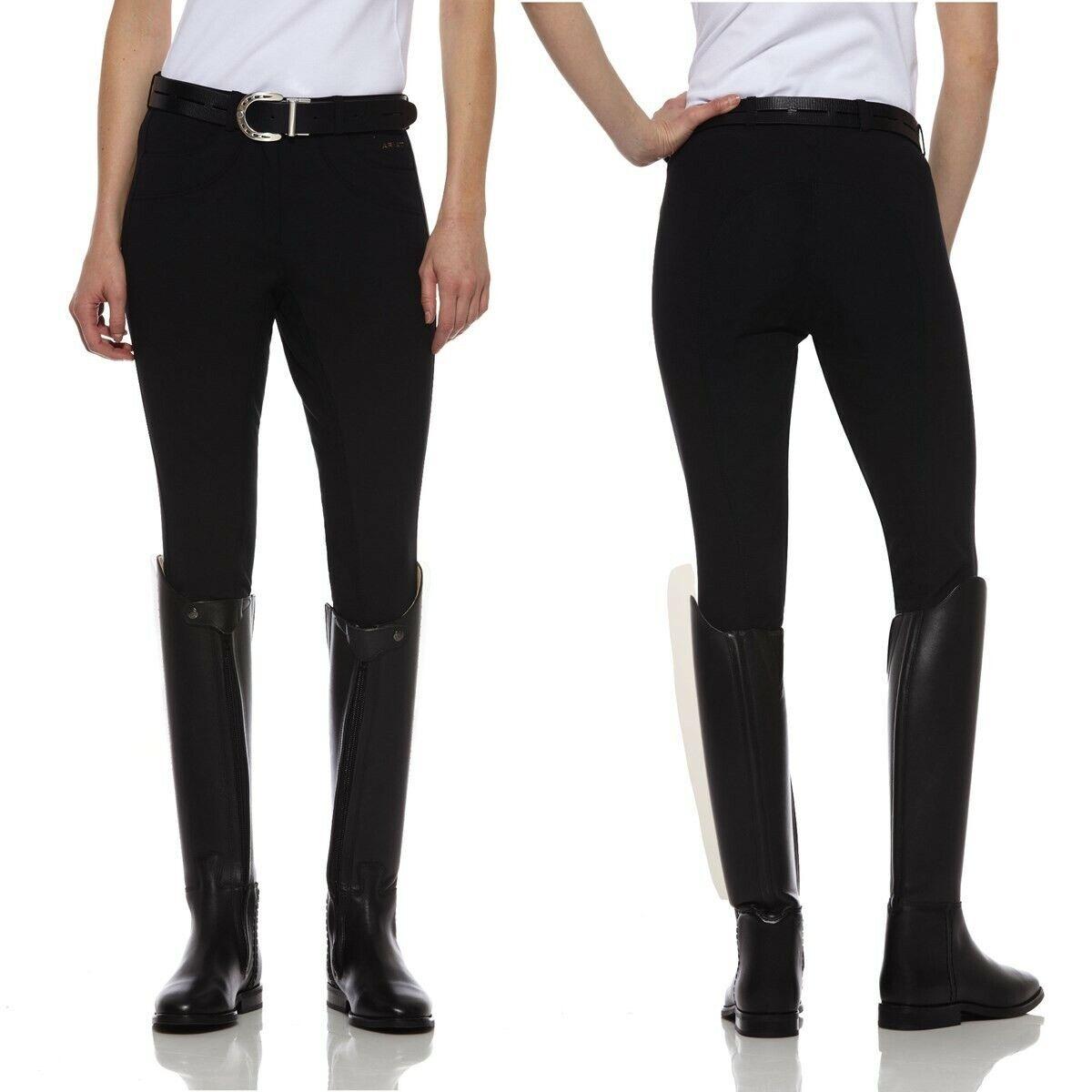 Ariat Olympia Complet Siège Pantalon-Noir-UK 10