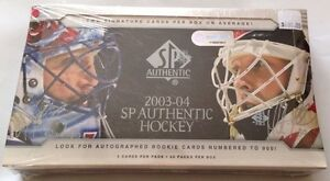 2003-04-Upper-Deck-SP-Authentic-Hockey-HOBBY-Box-2-Auto-Rookie-Jersey-Patch