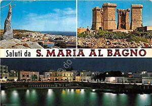 Cartolina-Postcard-Saluti-da-S-Maria-al-Bagno-Vedutine-1974-VG