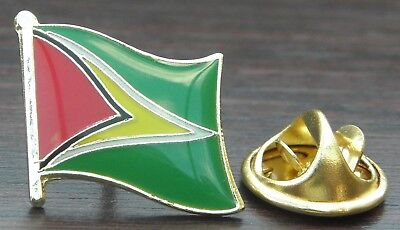 Guyana Flag Lapel Hat Pin NEW