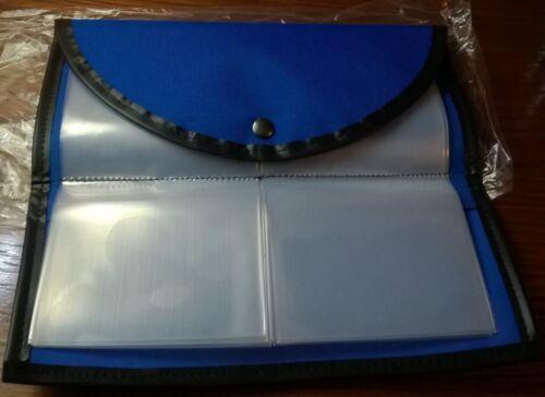uk made Bleu double crochet porte-monnaie avec 20 pochettes pour crochets /& crochets pour nylon