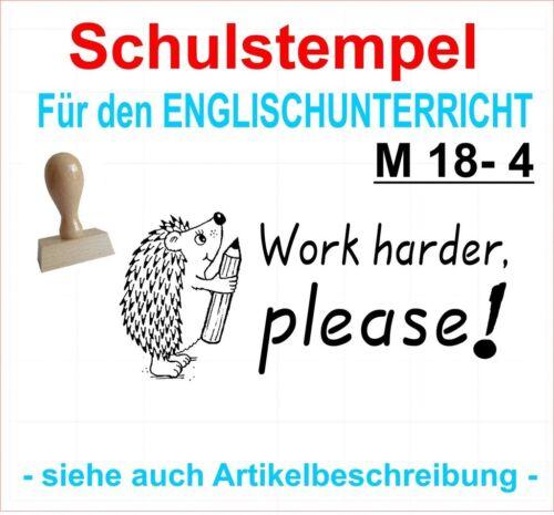 Stempel englisch Schule Lehrerstempel Belobigungsstempel Motivstempel M 18-4