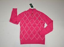 New Vineyard Vines Quarter Zip Paker Sweater Rhododendron Size S $145