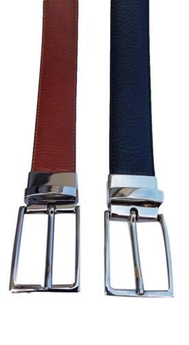 2 Cinture in una Cintura 3 cm double face con Fibbia girevole