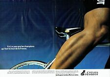 PUBLICITE ADVERTISING 027  1980   Peugeot cycles ( 2pages)  vélo homme