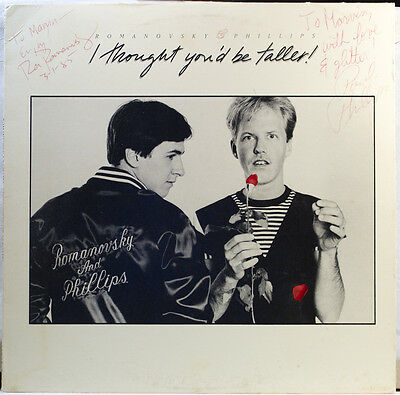 SIGNED Romanovsky & Phillips - I Thought You'd Be Taller 1984 LP Record + CD Gay