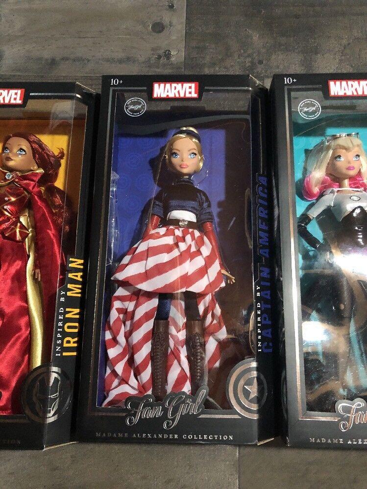 Marvel Fan Fan Fan Girl Madame Alexander VARIANTS Spider Gwen Captain America Iron Man eca79f