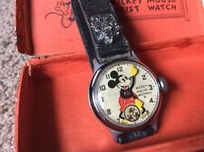 1934 Ingersoll Mickey Mouse Mens Vintage Watch,In Box,RARE,IN BOX,WORKS PERFECT!