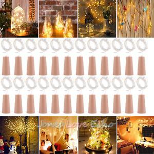 Image Is Loading Lots Wine Bottle Cork Lights Copper Led Light