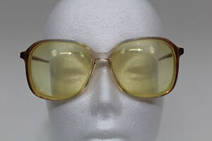 Vintage-Women-039-s-Swank-France-COLLEEN-Two-Toned-Clear-and-Tan-Eyeglasses-Plastic