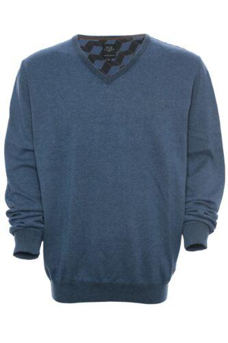 Kitaro Pullover finemente lavorato a maglia maglione knit uomo manica lunga cotone scollo V