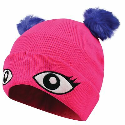 Dare2b Watch Out Kids Warm Acrylic Knit Animal Design Beanie Pink
