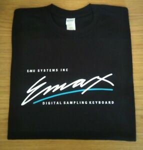 RETRO-SYNTH-T-SHIRT-SYNTHESIZER-SAMPLER-DESIGN-EMU-EMAX-S-M-L-XL-XXL