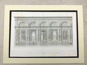 1857-Antique-Print-Architectural-Santa-Maria-Organo-Verona-Architecture