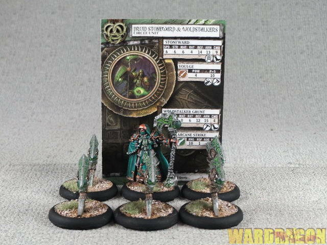 50mm Hordes WDS painted Circle Orbgolds Druid Stoneward and Woldstalkers h27