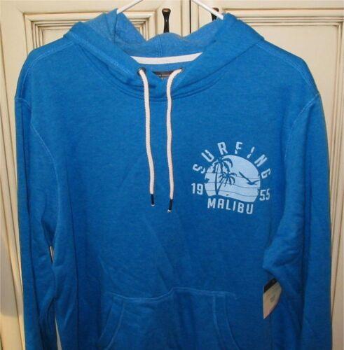 """Men/'s Large 24/"""" DENVER HAYES Hoodie Hooded Sweatshirt SURFING 1955 MALIBU Blue"""