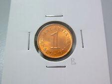 B: Malaysia 1 Sen coin (1977) - UNC/BU Lustre