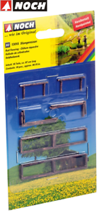 NOCH-H0-13015-Rod-Fence-18-Pieces-1-4-CM-High-New-Boxed