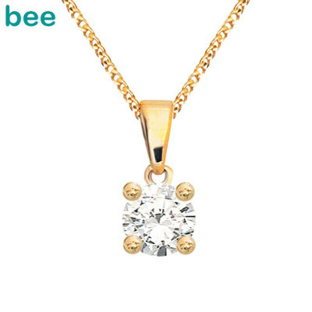 0.2ct White Illusion Diamond 9k 9ct Solid Yellow Solid Gold Pendant