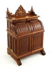 Dolls House Fine Platinum Miniature Study Furniture Walnut Wooton Secretary Desk